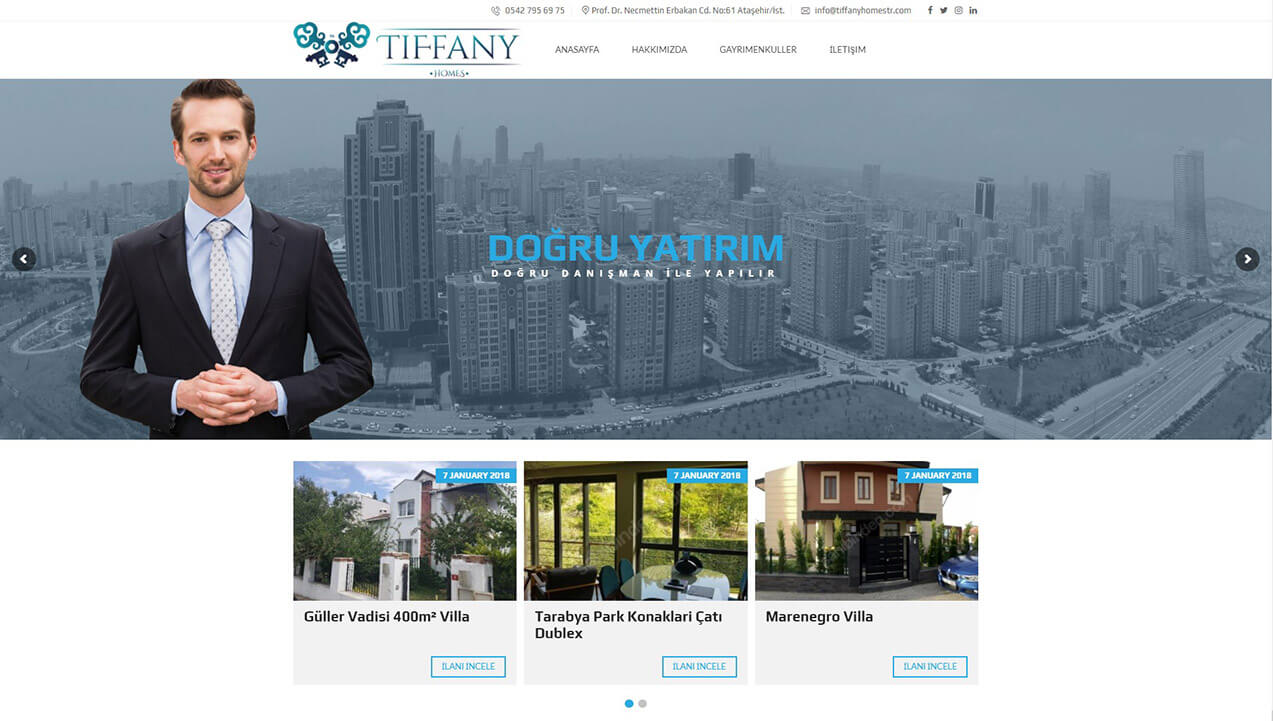 Tiffany Homes Gayrimenkul